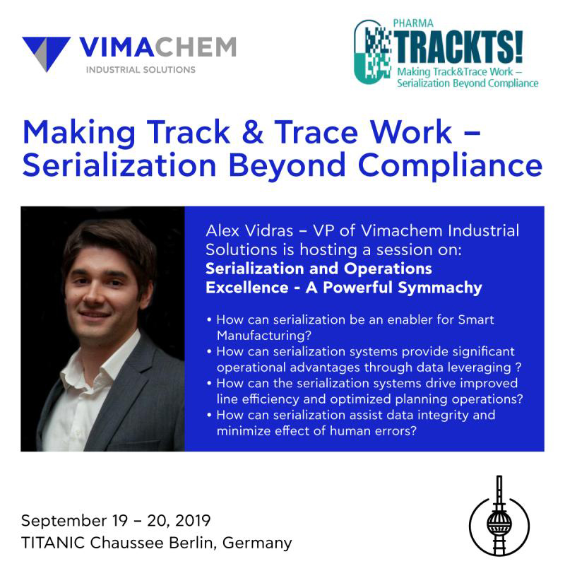 Vimachem Industrial Solutions in the Pharma Trackts event